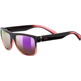 UVEX LGL 21 Glasses black rose/mirror pink